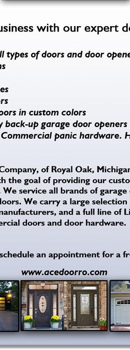 Ace Door Company Garage Door Repair Farmington Hills Mi Garage And